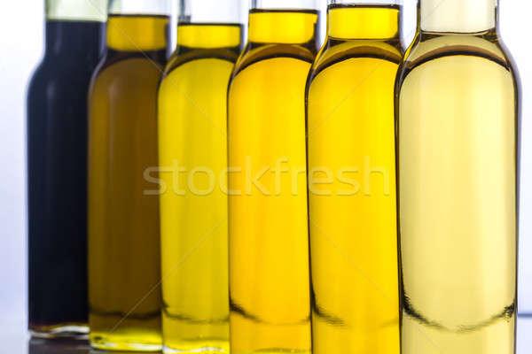 üvegek különböző zöldség olaj fény napraforgó Stock fotó © Alex9500