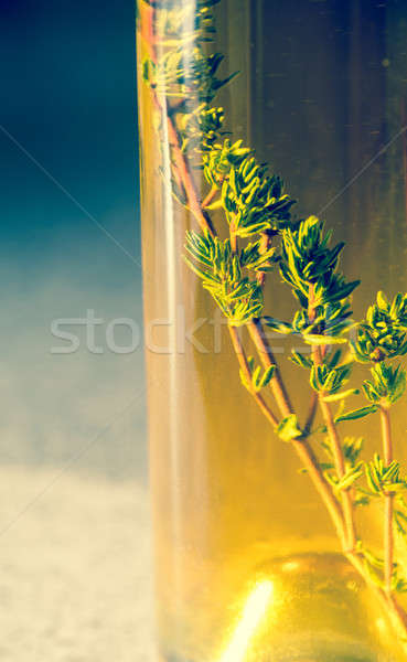 Bottle with olive oil Stock photo © Alex9500