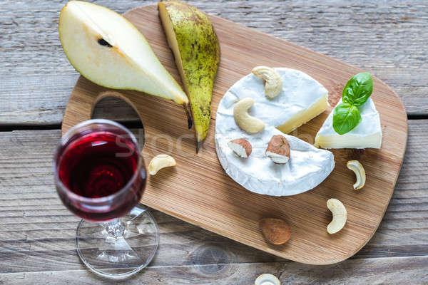 Camembert queso alimentos vidrio mesa desayuno Foto stock © Alex9500