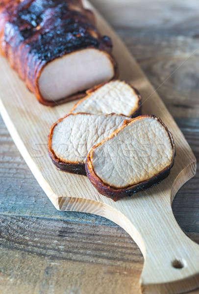 Pork loin wrapped in bacon Stock photo © Alex9500