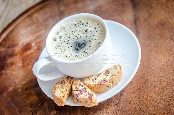 Csésze kávé kanál friss édes makró Stock fotó © Alex9500