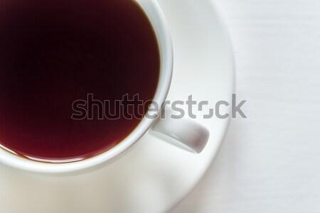 Beker thee witte drinken hot macro Stockfoto © Alex9500
