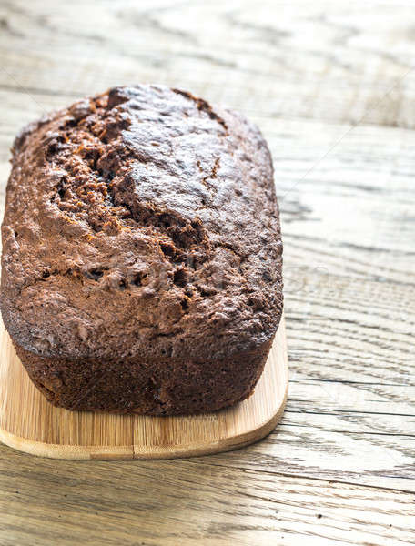Loaf of banana-chocolate bread with chocolate cream Stock photo © Alex9500
