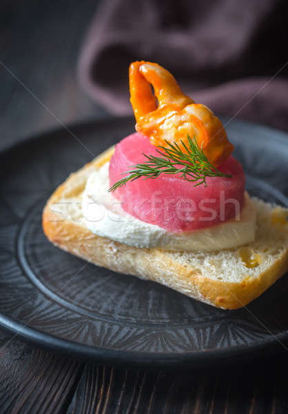 Sandwich with tuna, crab claw and mozzarella Stock photo © Alex9500