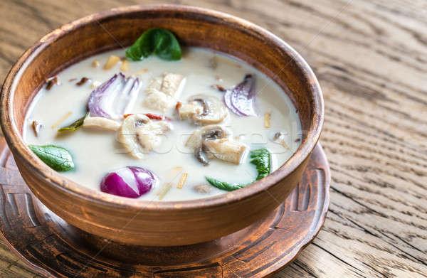 Thai coco crème soupe herbe restaurant Photo stock © Alex9500