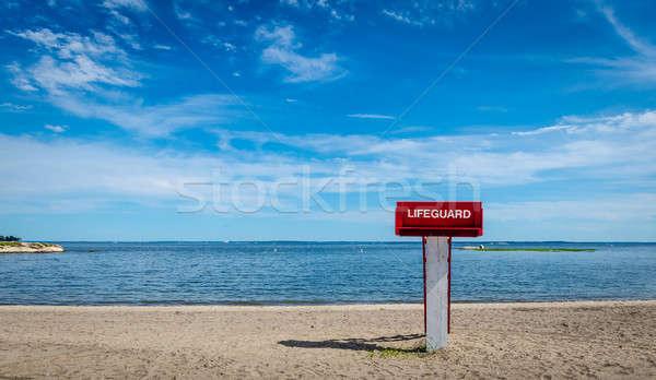 Ratownik wieża plaży niebo krajobraz morza Zdjęcia stock © Alex9500