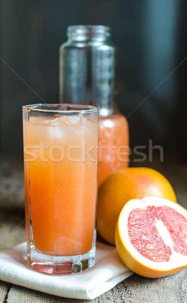 Grapefruit sap vruchten glas achtergrond drinken Stockfoto © Alex9500