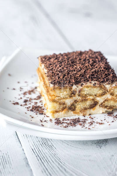 Tiramisu with chocolate topping Stock photo © Alex9500