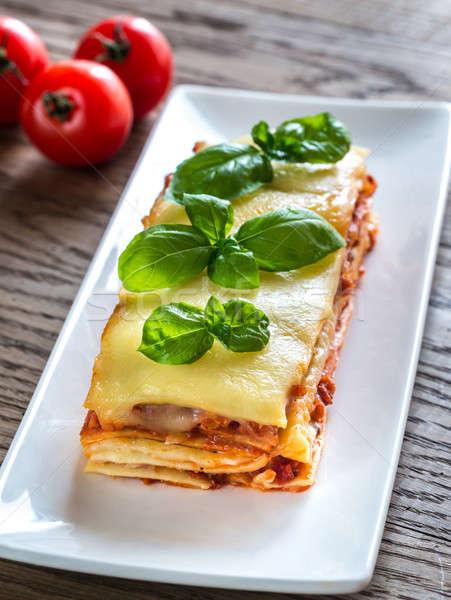 Classico lasagne alimentare foglia vetro Foto d'archivio © Alex9500