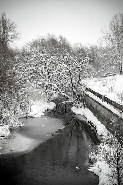Stock photo: River on winter