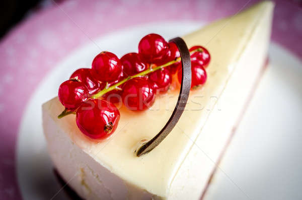 Cheesecake with redcurrant Stock photo © Alex9500