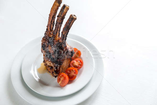 Portion of grilled pork ribs Stock photo © Alex9500