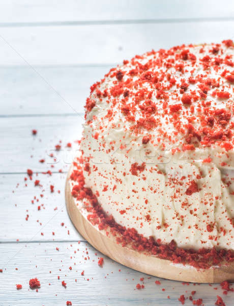 Red velvet cake on the wooden board Stock photo © Alex9500
