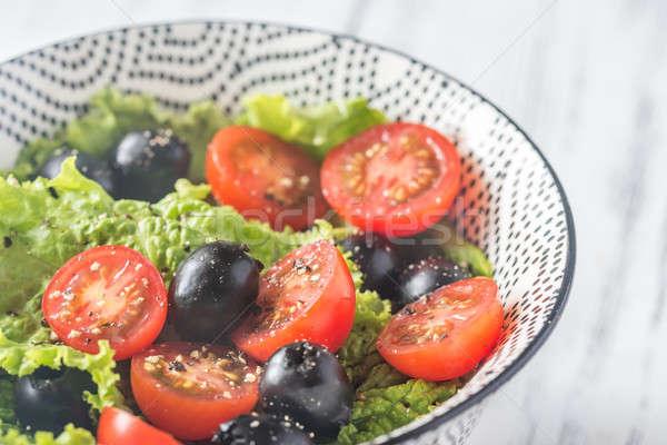 Bowl of fresh salad Stock photo © Alex9500