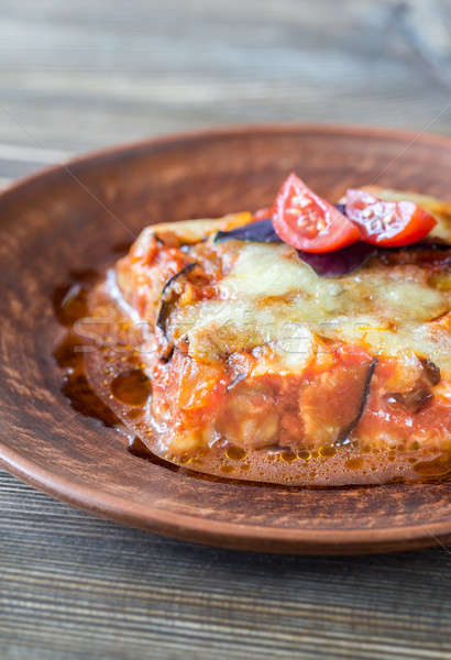 Portion of parmigiana di melanzane Stock photo © Alex9500