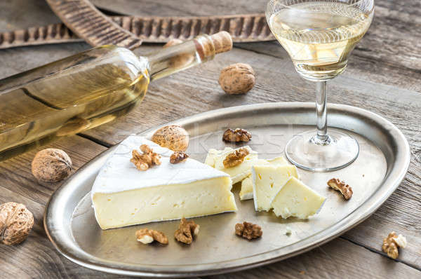Brie cheese with nuts Stock photo © Alex9500