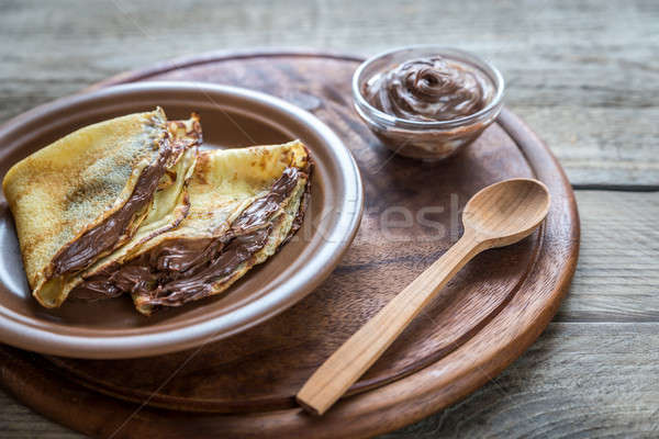 Crepes with chocolate cream Stock photo © Alex9500