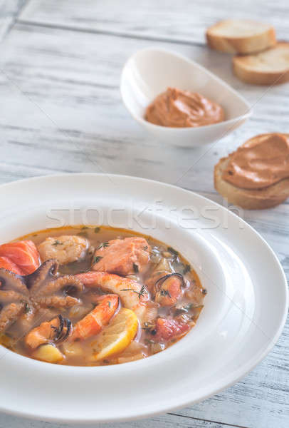 Stock photo: Bowl of Bouillabaisse