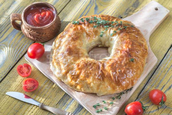 Wellington anel molho de tomate comida vermelho Foto stock © Alex9500