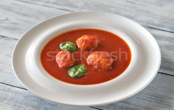 トマトスープ ミートボール 食品 レストラン ボール ストックフォト © Alex9500