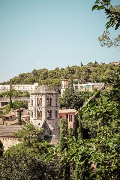 Sant Pere de Galligants abbey in Girona, Catalonia Stock photo © Alex9500