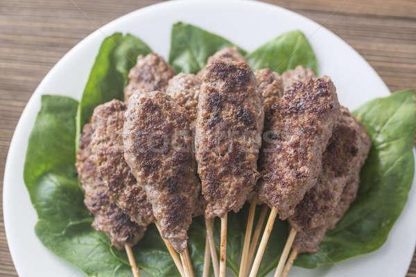 Marhahús friss spenót levelek étel forró Stock fotó © Alex9500