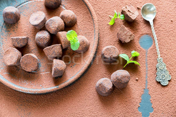 Chocolate truffles Stock photo © Alex9500