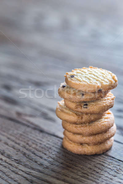 Manteiga bolinhos mesa de madeira comida fundo espaço Foto stock © Alex9500