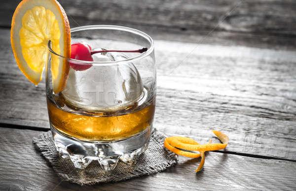 Ouderwets cocktails partij glas bal cocktail Stockfoto © Alex9500