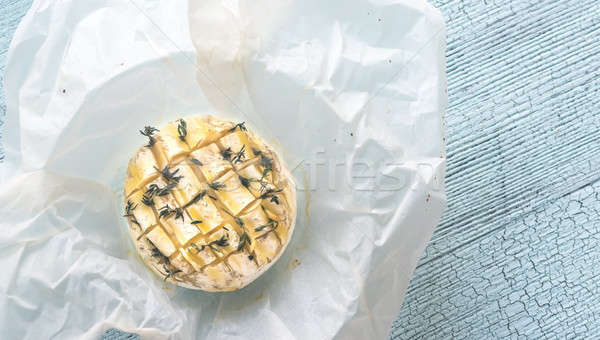 Camembert queso alimentos mesa petróleo blanco Foto stock © Alex9500