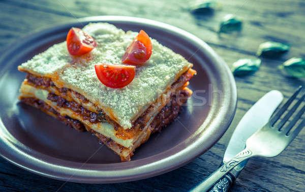 Tomates cherry placa alimentos fondo restaurante Foto stock © Alex9500