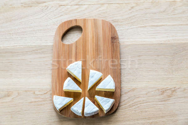 Camembert on the wooden board Stock photo © Alex9500