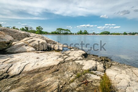 Costa Connecticut praia céu árvore paisagem Foto stock © Alex9500