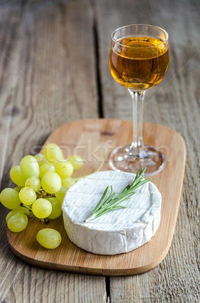 Queijo camembert uva comida vinho fruto café da manhã Foto stock © Alex9500
