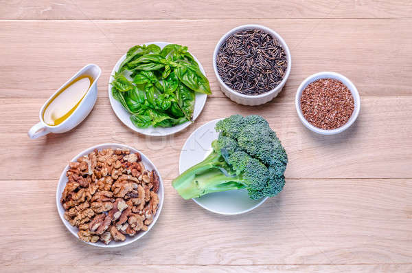 Plant-based sources of Omega-3 acids Stock photo © Alex9500