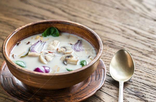 Tailandés coco crema sopa hierba restaurante Foto stock © Alex9500