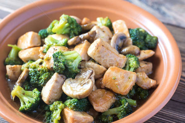 Chicken and Broccoli Stir Fry Stock photo © Alex9500