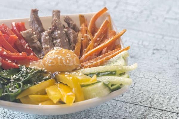 Bowl of bibimbap Stock photo © Alex9500