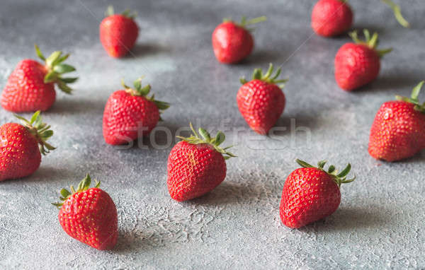 Friss eprek szürke csoport eper desszert Stock fotó © Alex9500
