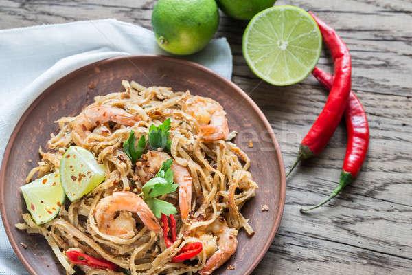 Сток-фото: тайский · жареный · риса · ресторан · обеда