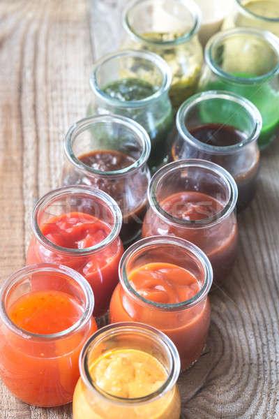 Szkła żywności pomarańczowy grupy czerwony Zdjęcia stock © Alex9500
