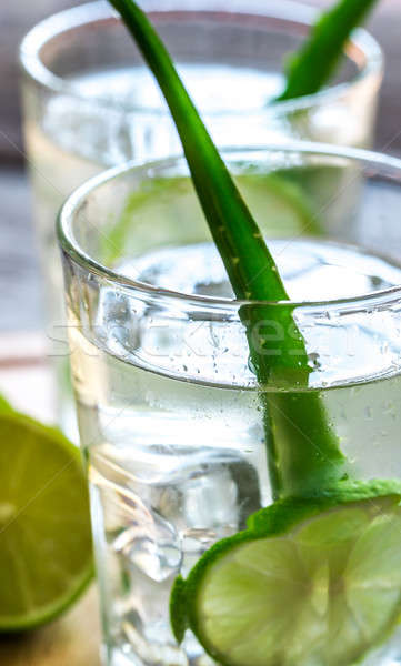 Cocktails of Aloe Vera and coconut juice Stock photo © Alex9500