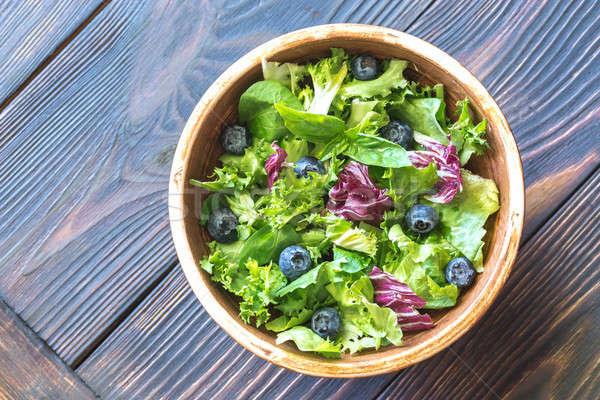 Tál saláta keverék felső kilátás zöld Stock fotó © Alex9500
