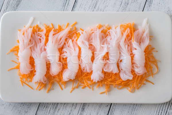 Konnyaku noodles with grated carrot Stock photo © Alex9500