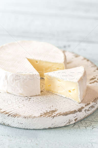 Camembert alimentos cabeza blanco bordo Foto stock © Alex9500
