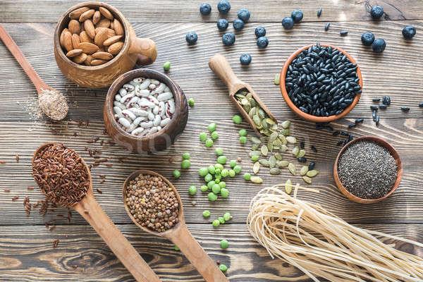 Food sources of fiber Stock photo © Alex9500