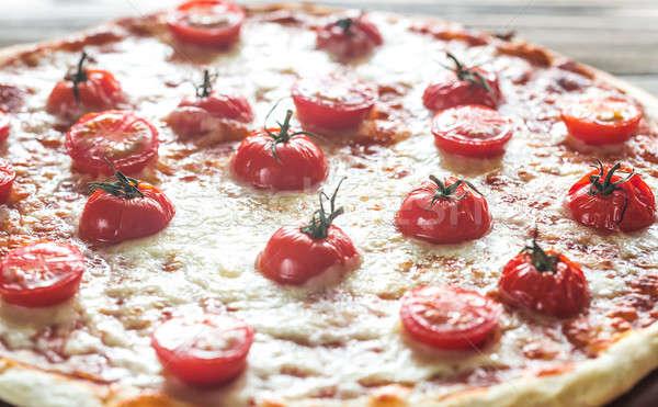 Pizza pomidorki mozzarella żywności restauracji tabeli Zdjęcia stock © Alex9500