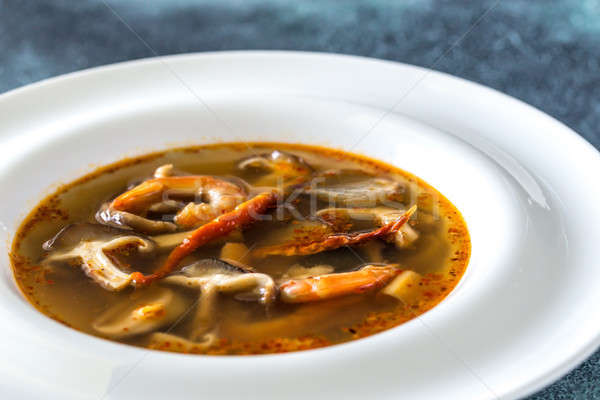 Portion of thai tom yum soup Stock photo © Alex9500