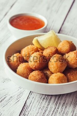 Bowl of scallop croquettes Stock photo © Alex9500
