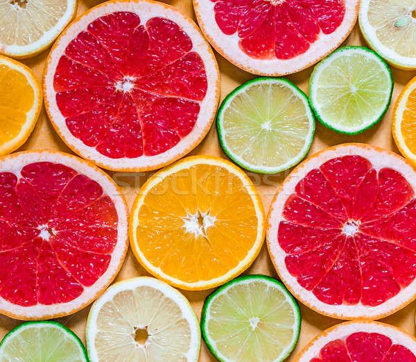 Slices of various citrus fruits Stock photo © Alex9500